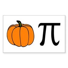 Pumpkin Pie Rectangle Decal