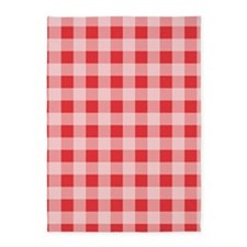 Poppy Red Gingham pattern 5'x7'Area Rug