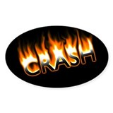 Crash and Burn Oval Decal