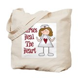 Nurses Heal The Heart Tote Bag