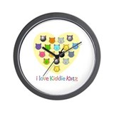 I Love Kiddie Katz Wall Clock