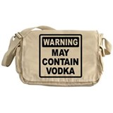 Warning May Contain Vodka Messenger Bag
