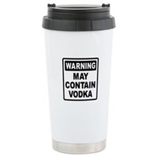 Warning May Contain Vodka Ceramic Travel Mug