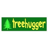 TREEHUGGER... Bumper Car Sticker