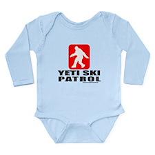 YETI SKI PATROL Long Sleeve Infant Bodysuit