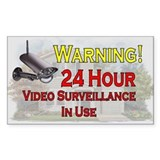 Funny Warning of video surveillance Decal