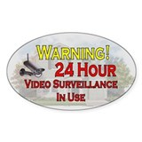 Cute Warning of video surveillance Decal