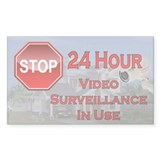 Unique Warning of video surveillance Decal