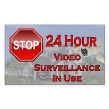 Stop - Video Surveillance Decal