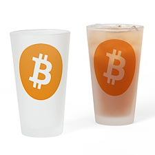 Bitcoin Logo Drinking Glass