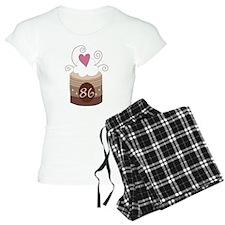 86th Birthday Cupcake Pajamas