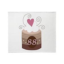 88th Birthday Cupcake Throw Blanket