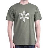 Six Arrows (Out), White on T-Shirts