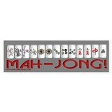 Mahjong GRY Bumper Bumper Sticker