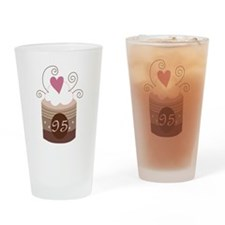 95th Birthday Cupcake Drinking Glass