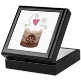 96th Birthday Cupcake Keepsake Box