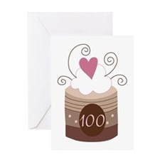 100th Birthday Cupcake Greeting Card
