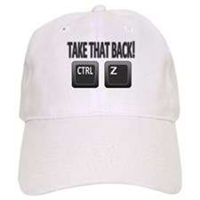 Take Back Ctrl Z Baseball Baseball Cap