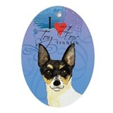 Toy Fox Terrier Oval Ornament