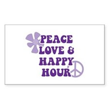 Peace Love and Happy Hour Decal