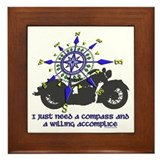 compass and willing accomplice-1-Motorcycle Framed