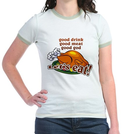 """Let's Eat!"" Jr. Ringer T-Shirt"