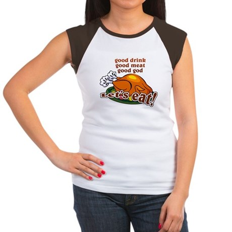 """Let's Eat!"" Women's Cap Sleeve T-Shirt"