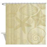 Gold shells Shower Curtain