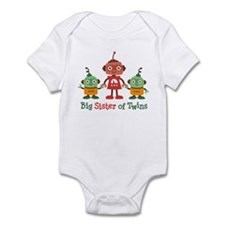 Big Sister of Twins - Retro Robot Infant Bodysuit