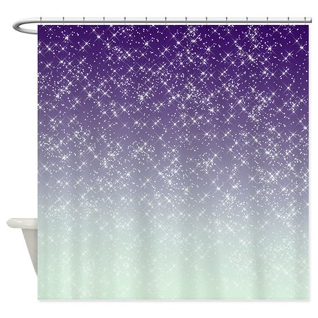Sparkling Purple Shower Curtain By Be Inspired By Life