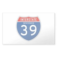 Interstate 39 - WI Rectangle Decal
