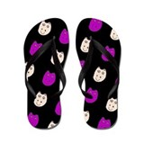 Hippo Ditto Purple Black Flip Flops