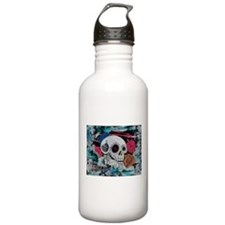 Sugar Skull and Roses Water Bottle