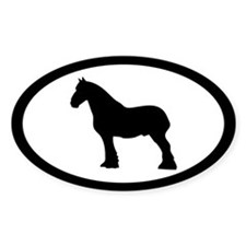 Shire or Clydesdale Oval Decal