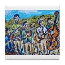 Del McCoury Painting Tile Coaster