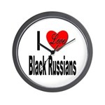 I Love Black Russians Wall Clock