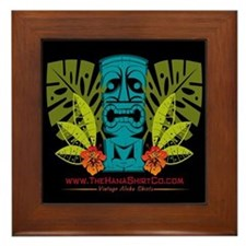 Hana Shirt Co. Tiki style Framed Tile