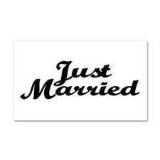 Just Married Car Magnet 20 x 12