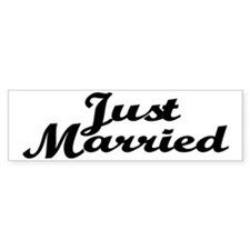 Just Married Bumper Bumper Sticker