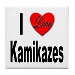 I Love Kamikazes Tile Coaster