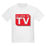Funny As Seen on TV Logo Kids Light T-Shirt