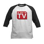 Funny As Seen on TV Logo Kids Baseball Jersey