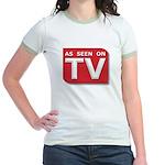 Funny As Seen on TV Logo Jr. Ringer T-Shirt