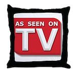 Funny As Seen on TV Logo Throw Pillow