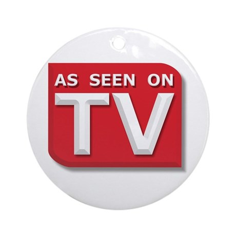 Funny As Seen on TV Logo Ornament (Round)