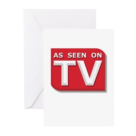 Funny As Seen on TV Logo Greeting Cards (Pk of 10)