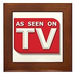 Funny As Seen on TV Logo Framed Tile