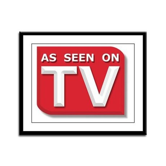 Funny As Seen on TV Logo Framed Panel Print