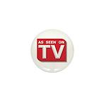Funny As Seen on TV Logo Mini Button