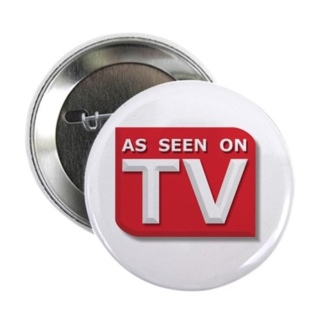 "Funny As Seen on TV Logo 2.25"" Button (100 pack)"